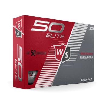 Wilson 50 Elite Golf Balls - 12 Ball Pack - Find in Store