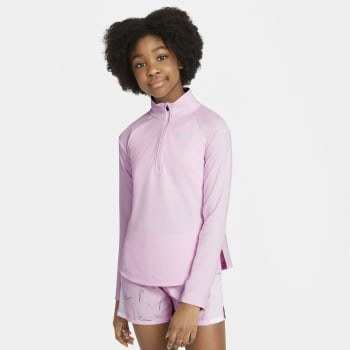 Nike Girls 1/2 Zip Long Sleeve Top