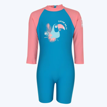 Second Skins Girls Tucan Do It Long Sleeve Sunsuit