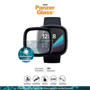 PanzerGlass Fitbit Sense/Versa 3 - Black Anti-Bacterial