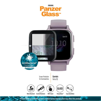 PanzerGlass Garmin Venu SQ - Black Anti-Bacterial - Out of Stock - Notify Me
