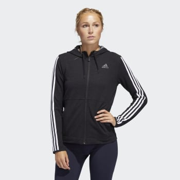 Adidas Women's 3 Stripe Knit Hoody - Out of Stock - Notify Me