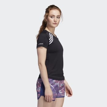 adidas Women's Run It 3Stripe Tee