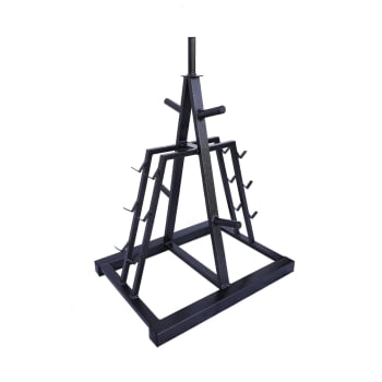 HS Fitness Dumbbell and Plate Stand
