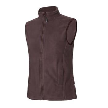 Womens Zip Through Ess Fleece Vest