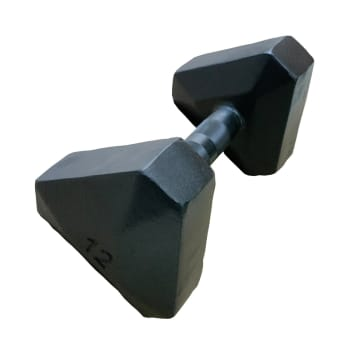 HS Fitness Triangle Hex 12kg Dumbbell