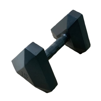 HS Fitness Triangle Hex 15kg Dumbbell