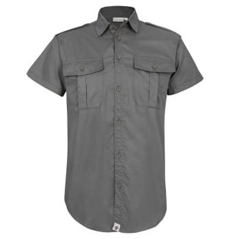 African Nature Men's Ess Safari Poplin Short Sleeve Shirt