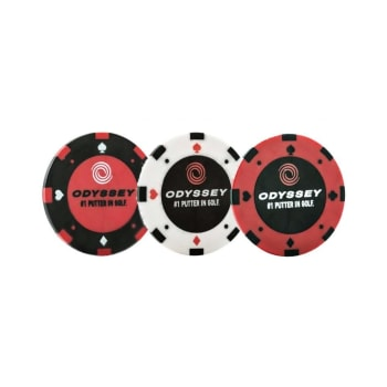 Odyssey Poker Chips Ball Marker 3 Pack