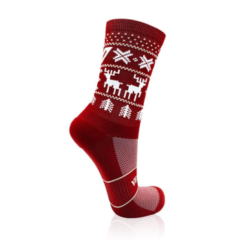 Versus Red Christmas Jersey Performance Active Socks