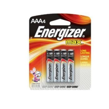 Energizer AAA 4 Pack Batteries