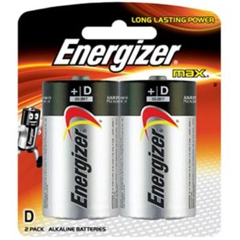 Energizer D 2 Pack Batteries