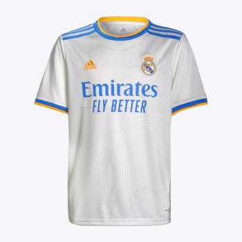 Real Madrid Junior Home 21/22 Soccer Jersey