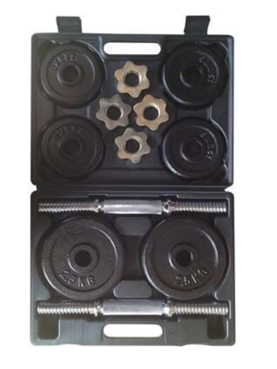 Body Sculpture 20kg Dumbbell Set with Plastic Case, product, variation 1