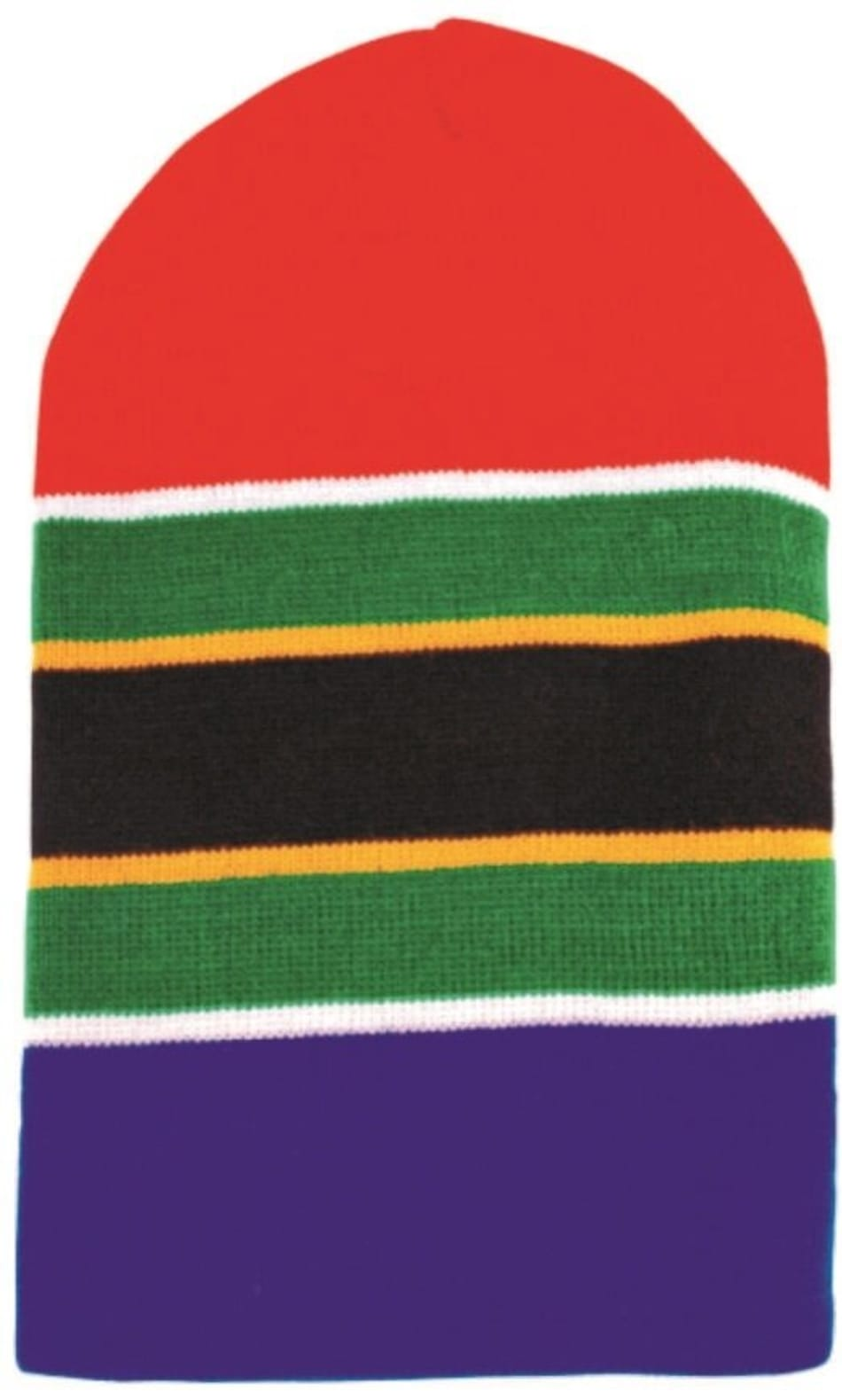 South Africa Flag Strip Beanie, product, variation 1
