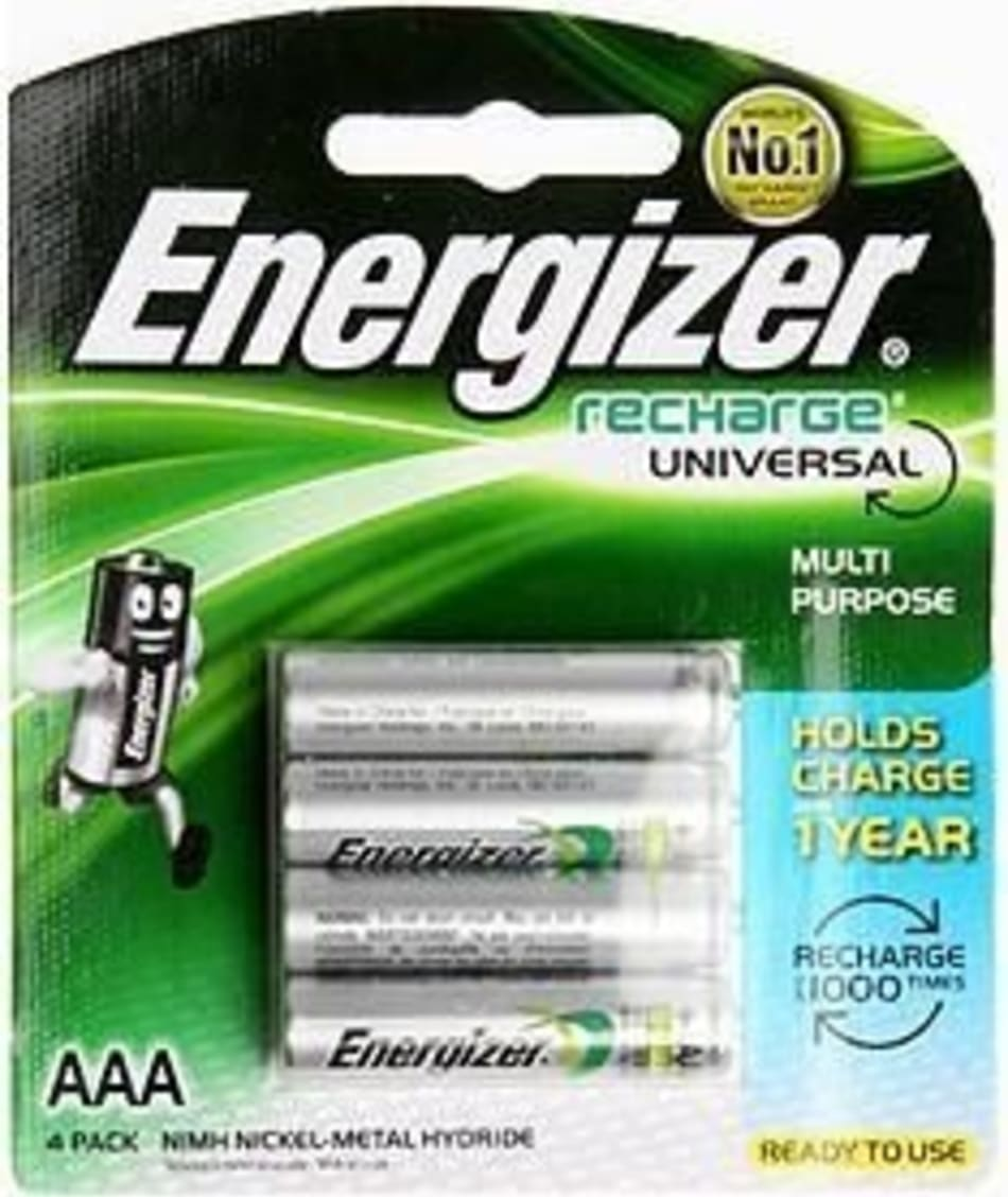 Energizer Recharge 4 x AAA (700mAh), product, variation 1