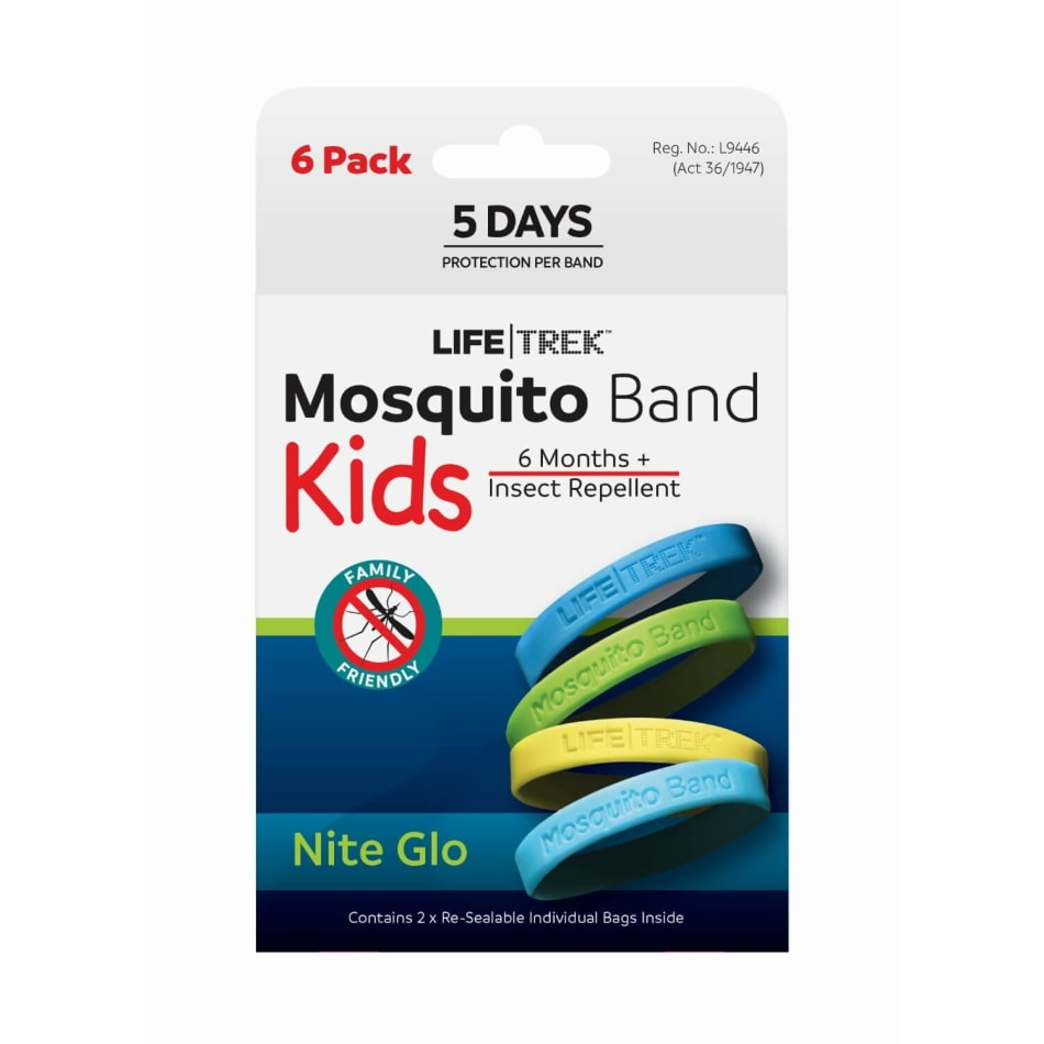 Lifetrek Mosquito Band Kids Glow 6Pk, product, variation 1