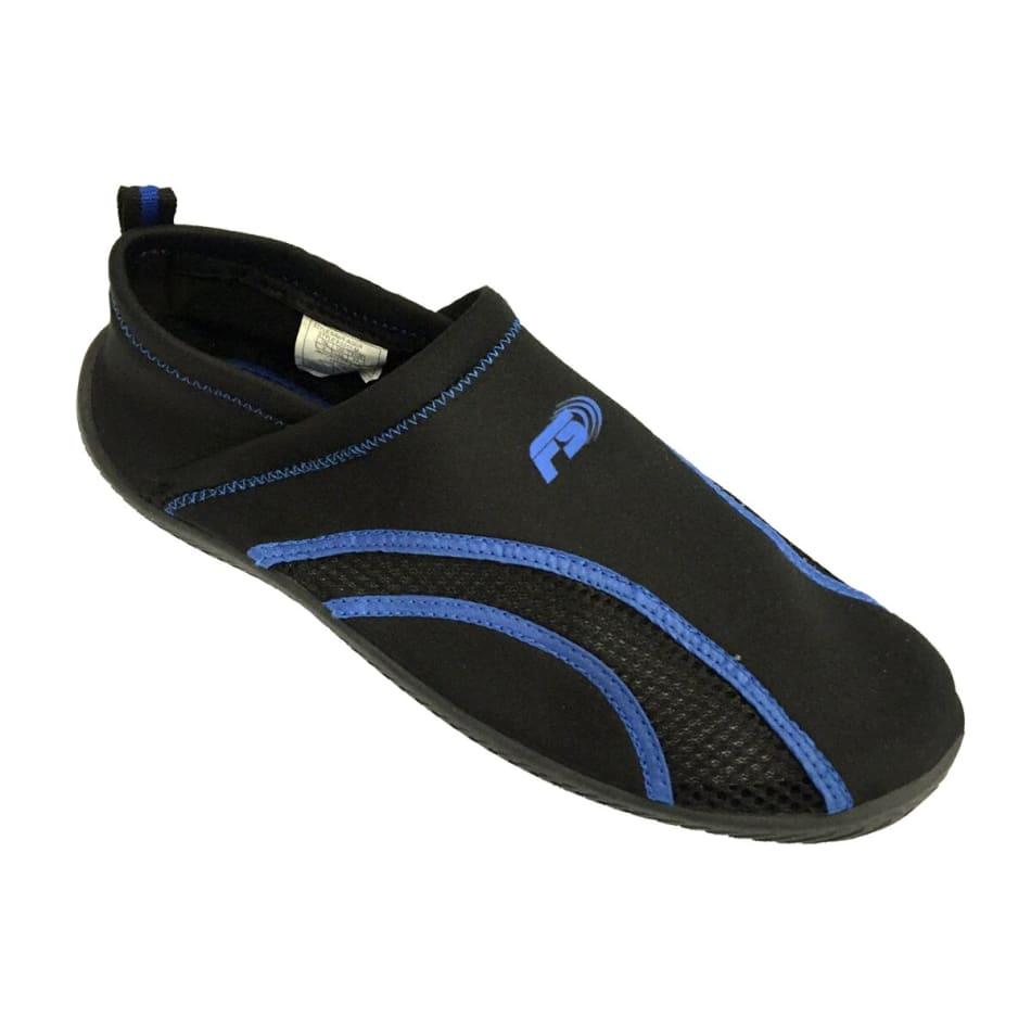 Aqua Men's Slip On Black/Snorkel Blue Aqua Shoe, product, variation 1