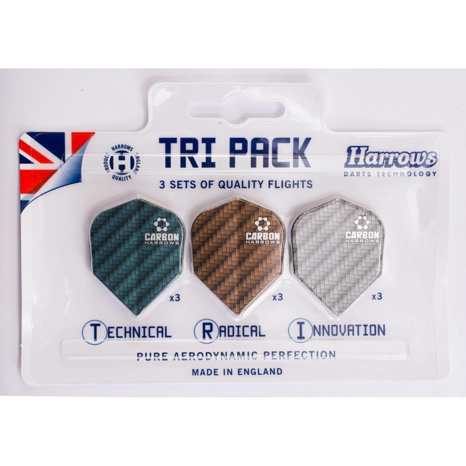 Harrows Tri-pack Carbon Flights, product, variation 1