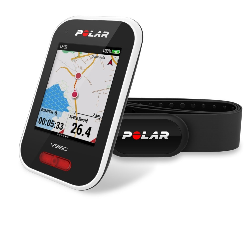 Polar V650 Cycling Computer with Heart Rate Monitor plus H10, product, variation 7