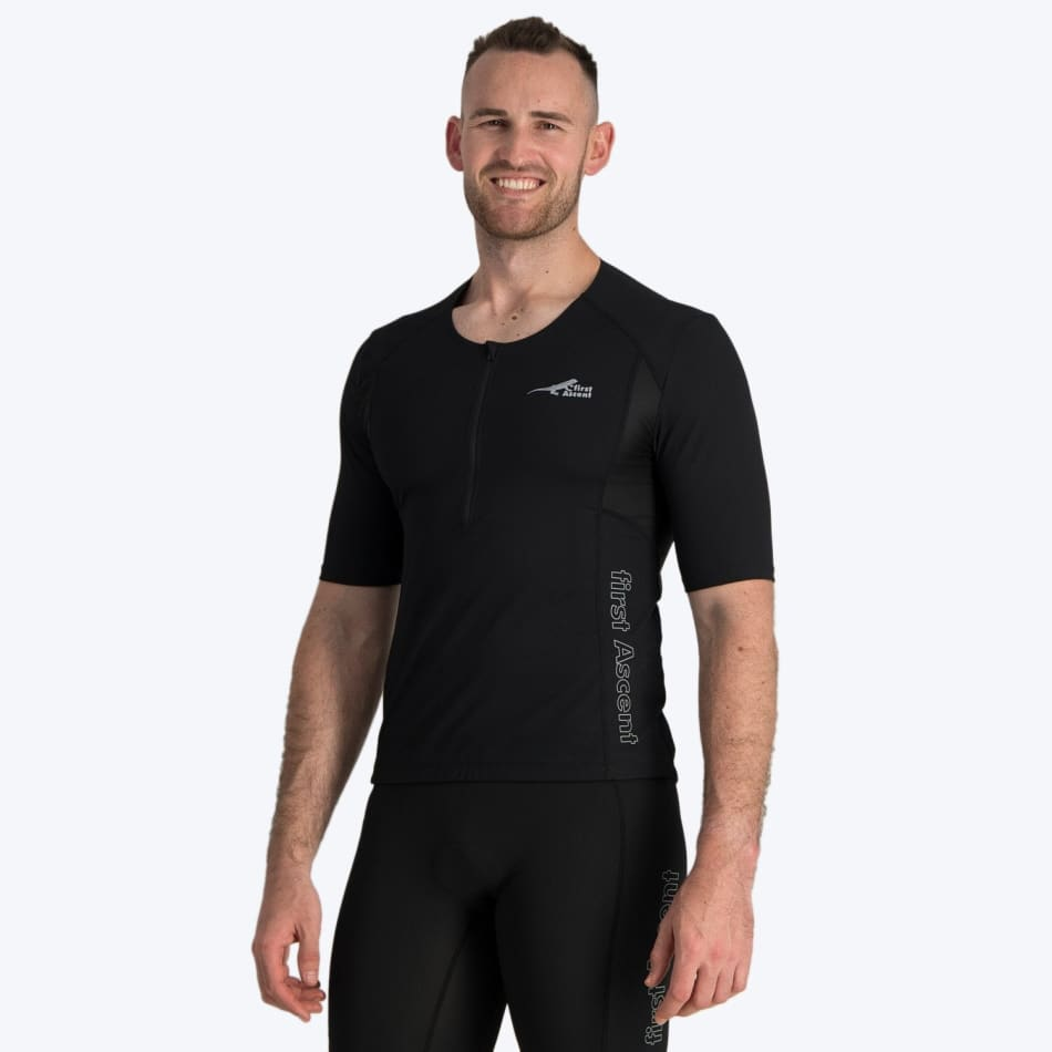 First Ascent Men's Triathlon Short Sleeve Top - default
