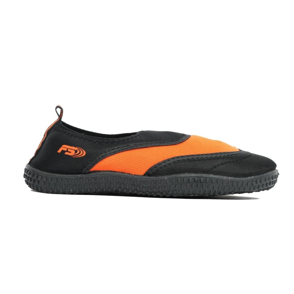 Aqua Men's Slip On Black/Orange Aqua Shoe, product, variation 1