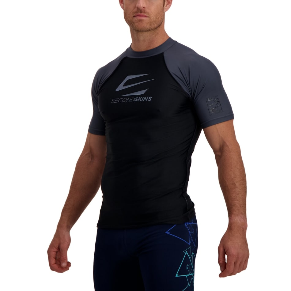 Second Skins Men's Iconic Short Sleeve Rashvest, product, variation 2