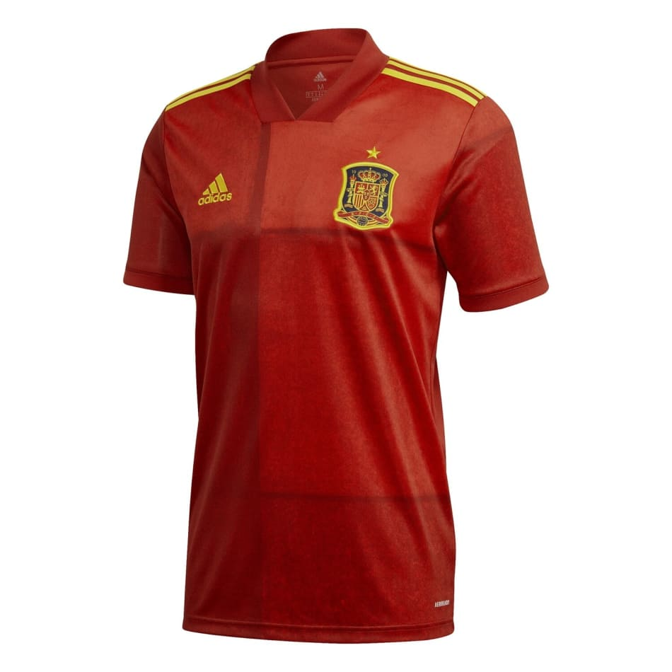 Spain Men's Home Euro 2020 Soccer Jersey, product, variation 1