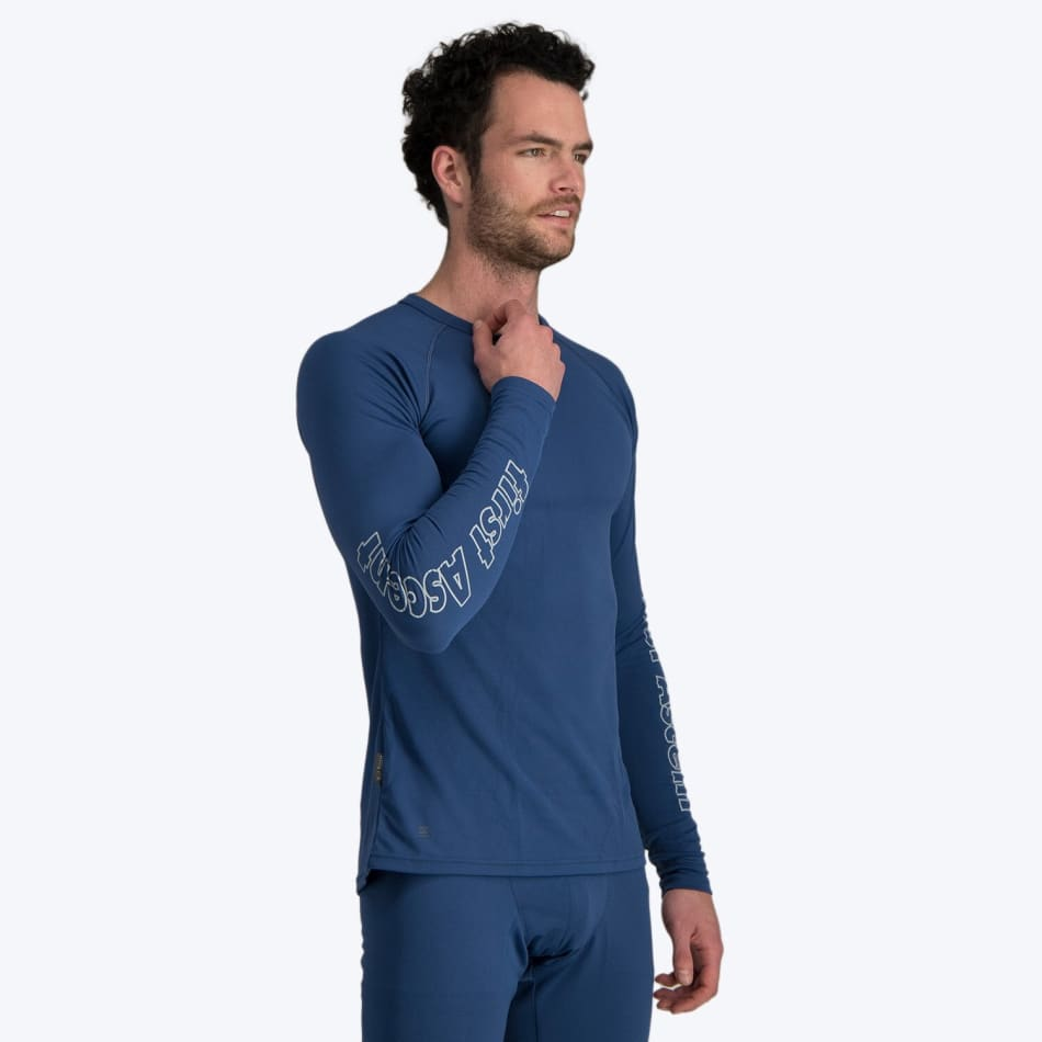 First Ascent Men's Quick Wic Bamboo Long Sleeve Top, product, variation 3