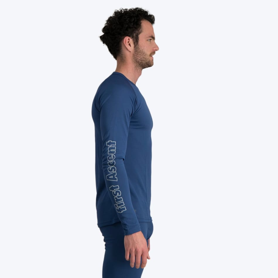 First Ascent Men's Quick Wic Bamboo Long Sleeve Top, product, variation 5
