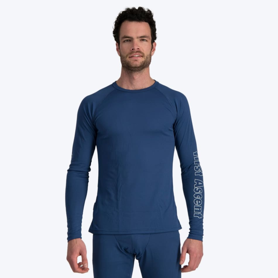 First Ascent Men's Quick Wic Bamboo Long Sleeve Top, product, variation 2