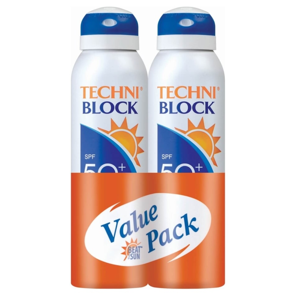 Techniblock SPF50 Active Spray Value Pack (2x 150ml), product, variation 1