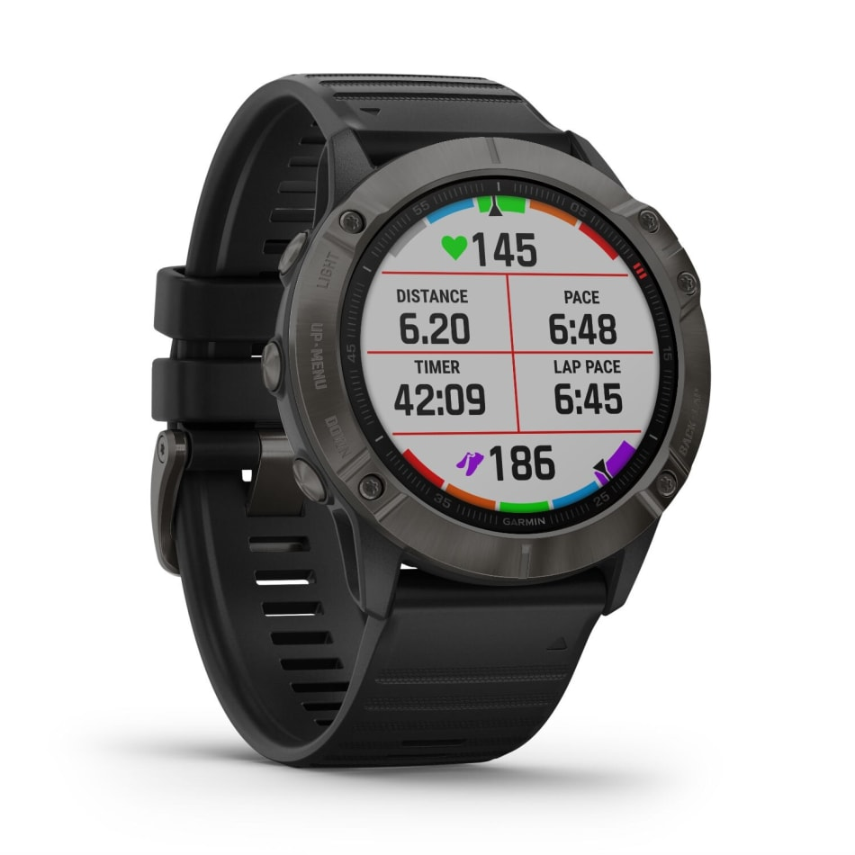 Garmin Fenix 6X Pro Solar Titanium Multisport GPS Watch, product, variation 6