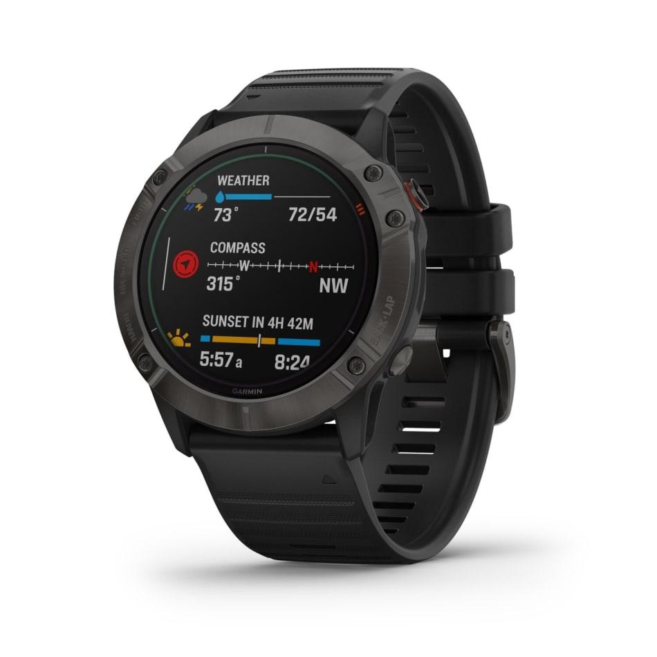 Garmin Fenix 6X Pro Solar Titanium Multisport GPS Watch, product, variation 1