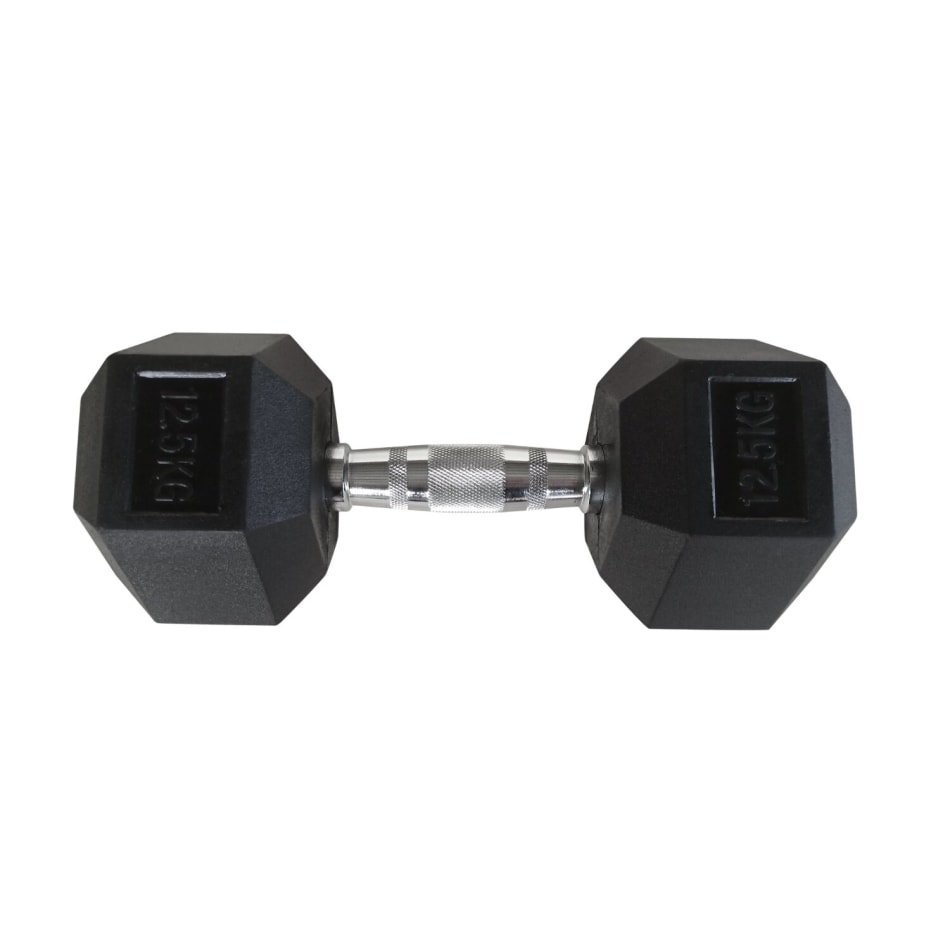 HS Fitness 12.5kg Rubber Hex Dumbbell, product, variation 1