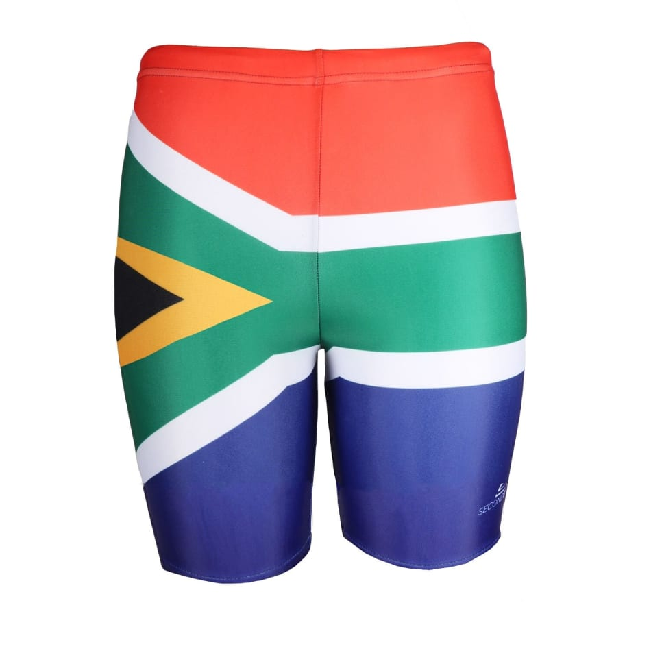 Second Skins Boys South Africa Flag Swimming Jammer, product, variation 1