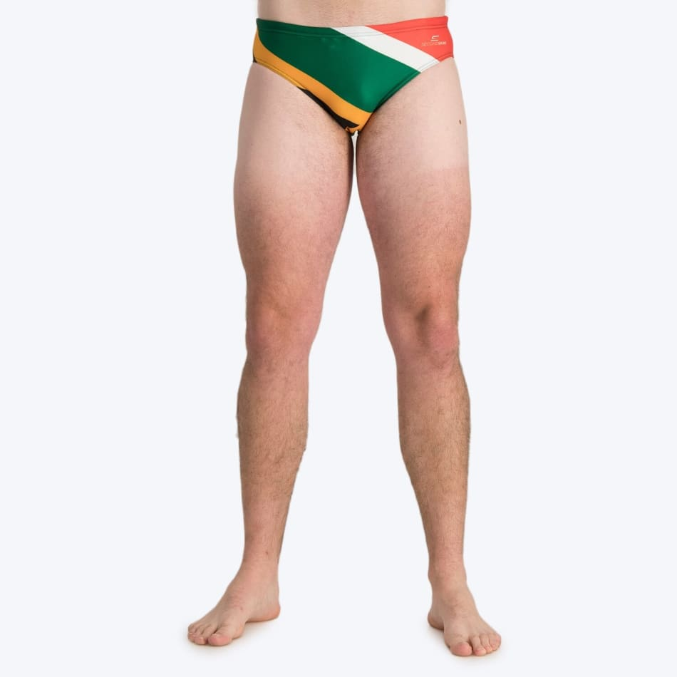 Second Skins Men's South African Flag Swimming Brief, product, variation 1
