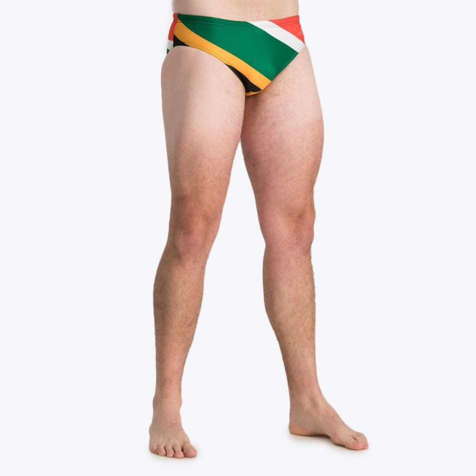 Second Skins Men's South African Flag Swimming Brief, product, variation 3