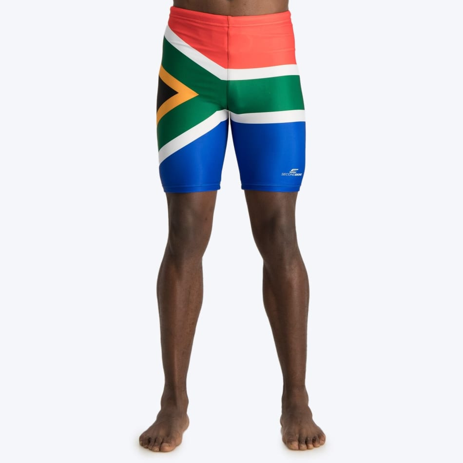 Second Skins Men's South African Flag Swimming Jammer, product, variation 1