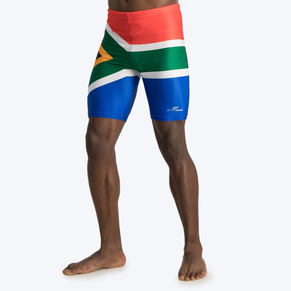 Second Skins Men's South African Flag Swimming Jammer, product, variation 2