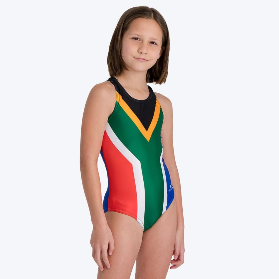 Second Skins Girls South African Flag Swimming 1 Piece, product, variation 3