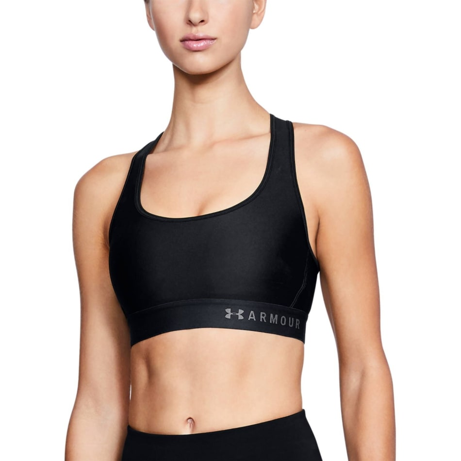 Under Armour Women's Mid Crossback Sports Bra, product, variation 1