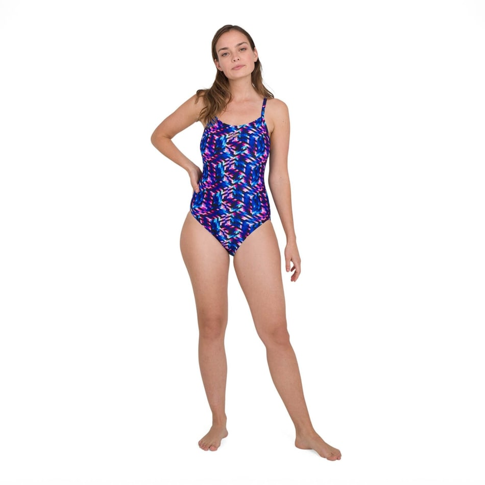Speedo Women's Allover Digital Rippleback Swim 1 Piece, product, variation 2
