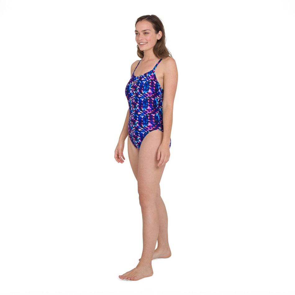 Speedo Women's Allover Digital Rippleback Swim 1 Piece, product, variation 3