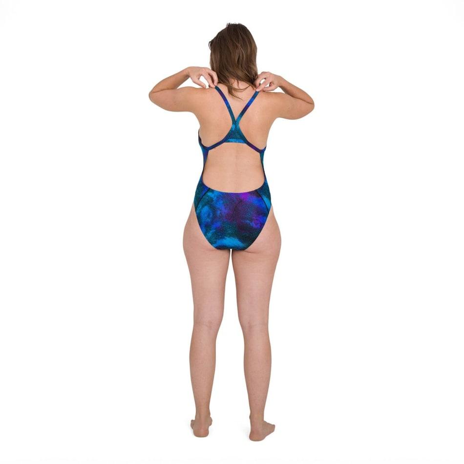 Speedo Women's Allover Turnback Swim 1 Piece, product, variation 4