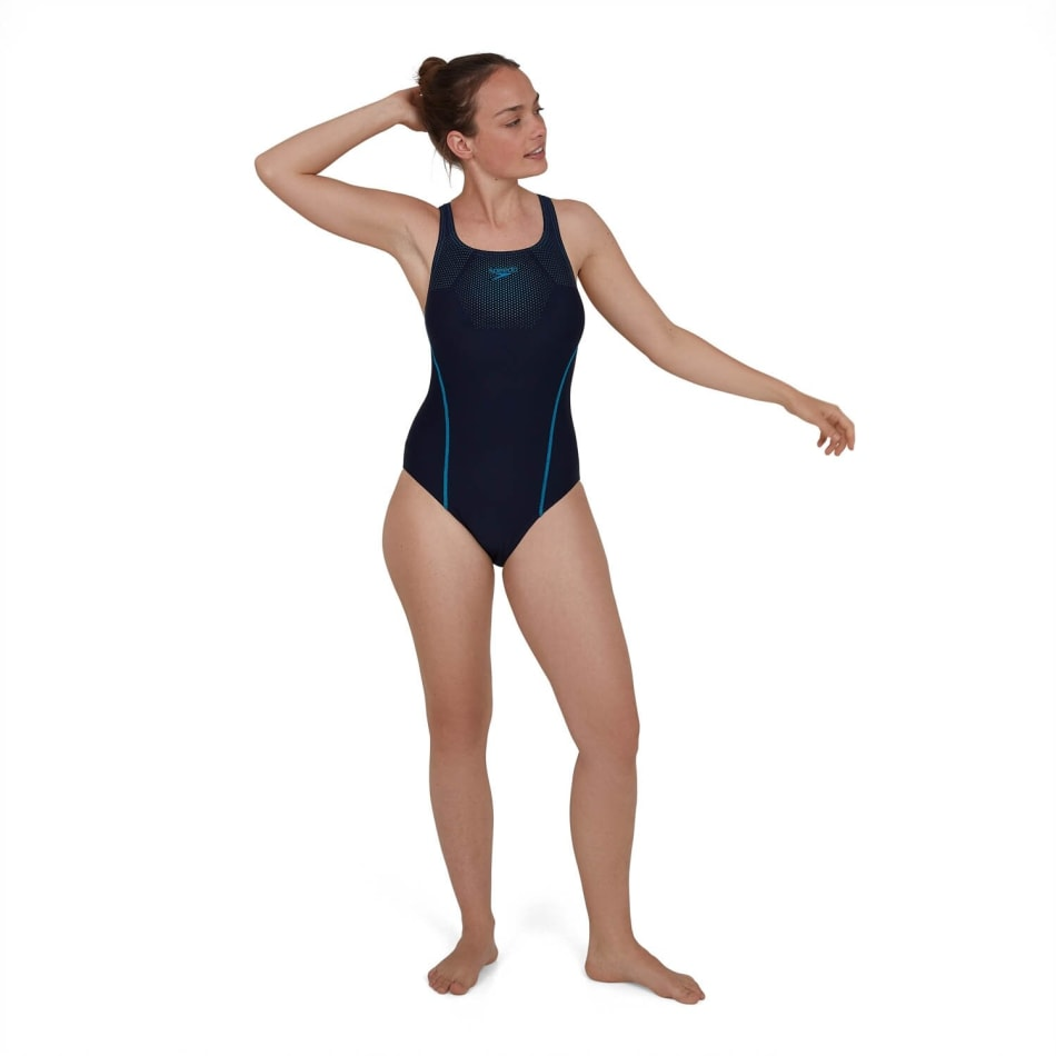 Speedo Women's Tech Placement Medalist Swim 1 Piece, product, variation 2