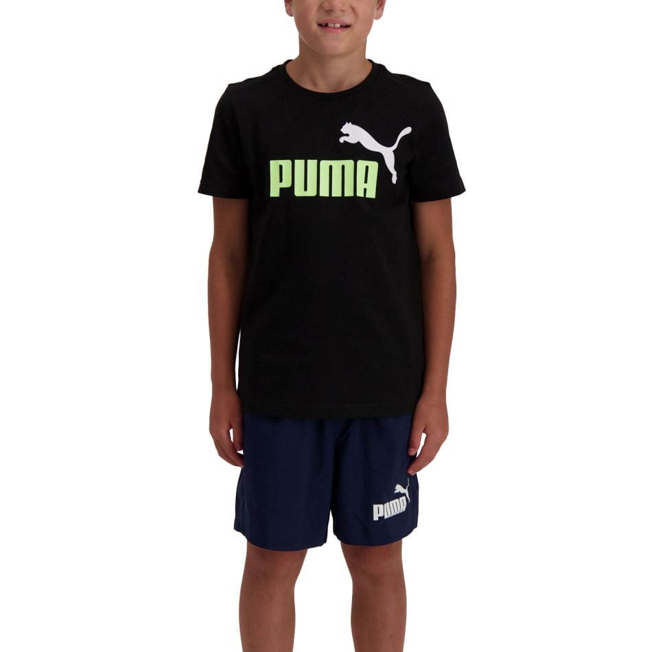 Puma Boys Essential 2 Colour Logo T- Shirt, product, variation 1