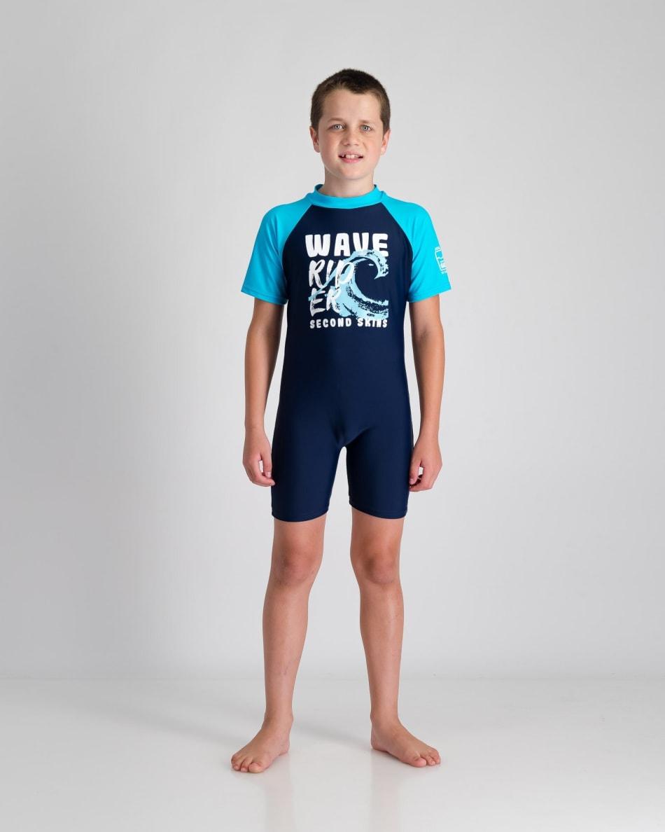 Second Skins Boys Wave Rider Sunsuit, product, variation 1
