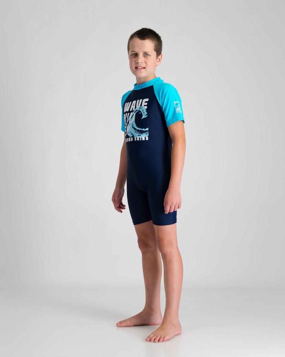 Second Skins Boys Wave Rider Sunsuit, product, variation 2