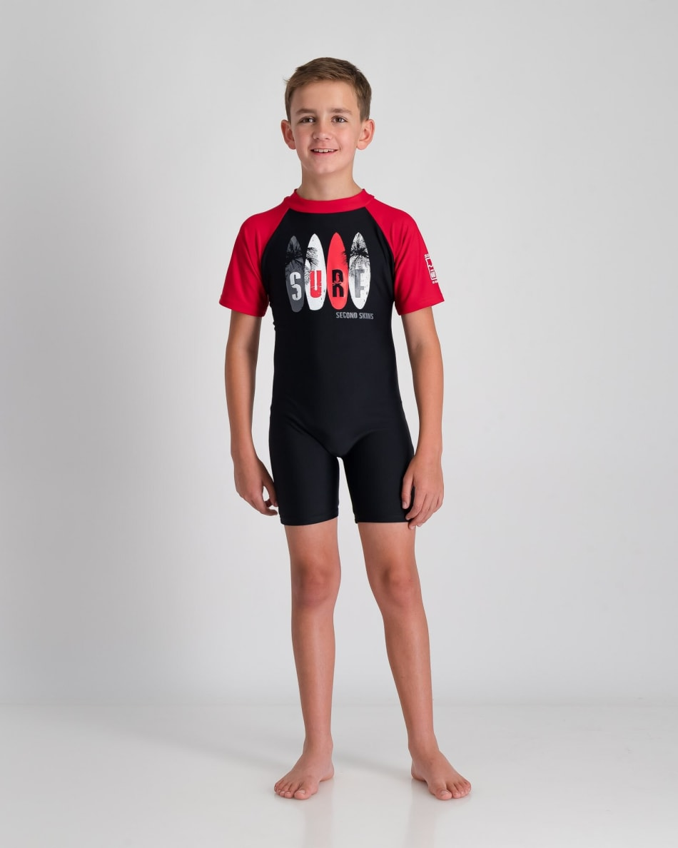 Second Skins Boys Surf Palms Sunsuit, product, variation 1